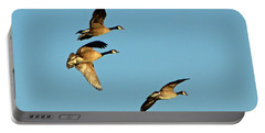 3 Geese In Flight Portable Battery Charger