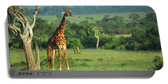 Giraffe Portable Battery Charger by Sebastian Musial