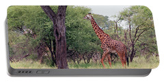 Giraffes Eating Acacia Trees Portable Battery Charger