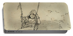 Girl On A Swing Portable Battery Charger