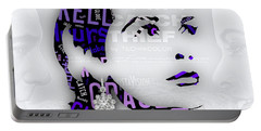 Grace Kelly Movies In Words Portable Battery Charger by Marvin Blaine
