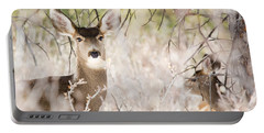 Herd Of Mule Deer In Deep Snow Portable Battery Charger