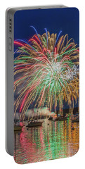 Independence Day Fireworks In Boothbay Harbor Portable Battery Charger