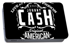 Johnny Cash Portable Battery Charger by Hans Wolfgang Muller Leg