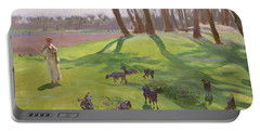 Landscape With Goatherd Portable Battery Charger