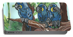 3 Macaws Portable Battery Charger