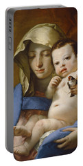 Madonna Of The Goldfinch Portable Battery Charger