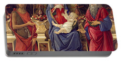 Madonna With Saints Portable Battery Charger