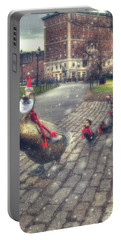 Portable Battery Charger featuring the photograph Make Way For Ducklings - Boston Public Garden by Joann Vitali
