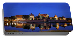 Malbork Castle At Night In Poland Portable Battery Charger