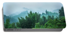 Mountains Scenery In The Mist Portable Battery Charger