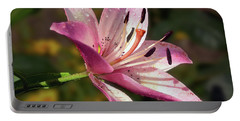 Portable Battery Charger featuring the photograph Pink Lily by Elvira Ladocki