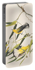 Prothonotary Warbler Portable Battery Charger by John James Audubon