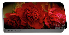 Red Peony Portable Battery Charger