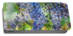 Red Wine Grapes On The Vine Portable Battery Charger
