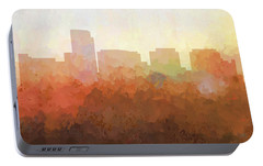 Portable Battery Charger featuring the digital art Rosslyn Virginia Skyline by Marlene Watson