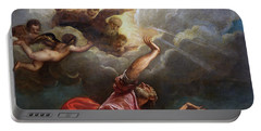 Saint John The Evangelist On Patmos Portable Battery Charger