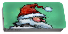 Santa Claus Portable Battery Charger by Kevin Middleton