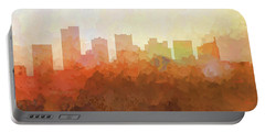Portable Battery Charger featuring the digital art Scottsdale Arizona Skyline by Marlene Watson