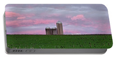 Portable Battery Charger featuring the photograph 3 Silos by Robert Geary
