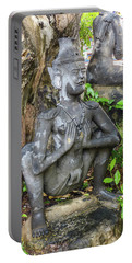 Statue Depicting A Thai Yoga Pose At Wat Pho Temple Portable Battery Charger