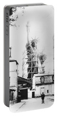 Portable Battery Charger featuring the photograph Statue Of Liberty, Paris by Granger