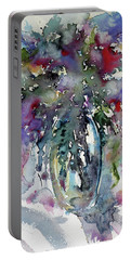 Portable Battery Charger featuring the painting Still Life by Kovacs Anna Brigitta