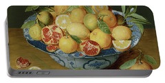 Still Life With Lemons, Oranges And A Pomegranate Portable Battery Charger