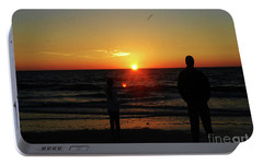 Portable Battery Charger featuring the photograph Sunset In Paradise by Gary Wonning