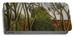Portable Battery Charger featuring the painting The Banks Of The Bievre Near Bicetre by Henri Rousseau