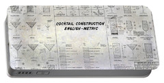 The Cocktail Construction Blueprint Portable Battery Charger by Jon Neidert