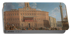 The Lottery In Piazza Di Montecitorio Portable Battery Charger