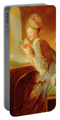 Portable Battery Charger featuring the painting The Love Letter by Jean Honore Fragonard