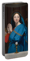 The Virgin Adoring The Host Portable Battery Charger