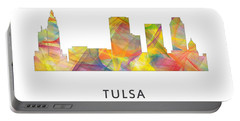 Tulsa Oklahoma Skyline Portable Battery Charger by Marlene Watson