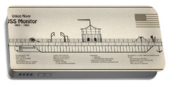 Uss Monitor Ship Plans Portable Battery Charger