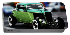 Portable Battery Charger featuring the photograph 3 Window 1933 Ford Coupe by Baggieoldboy