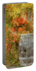 Wine Barrel In Autumn Portable Battery Charger