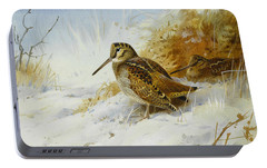 Winter Woodcock Portable Battery Charger by Archibald Thorburn