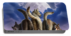 3 Wolves Mooning Portable Battery Charger