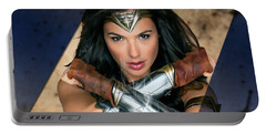 Wonder Woman Art Portable Battery Charger by Marvin Blaine