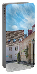 Portable Battery Charger featuring the photograph Ystad Street Scene by Antony McAulay