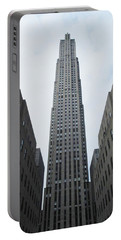 Portable Battery Charger featuring the photograph 30 Rockefeller Center by Christopher Kirby