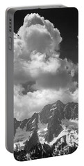 304638 Clouds Over Mt. Stuart Bw Portable Battery Charger