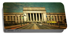 30th Street Station Traffic Portable Battery Charger by Trish Tritz