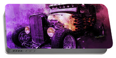 31 Ford Model A Fiery Hot Rod Classic Portable Battery Charger