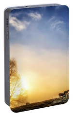 Portable Battery Charger featuring the photograph Misty Mountain Sunrise by Thomas R Fletcher