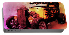 31 Model A Ford Fiery Watercolour Portable Battery Charger