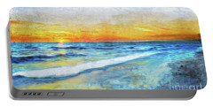 Seascape Sunrise Impressionist Digital Painting 31a Portable Battery Charger