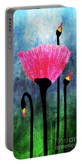 32a Expressive Floral Poppies Painting Digital Art Portable Battery Charger